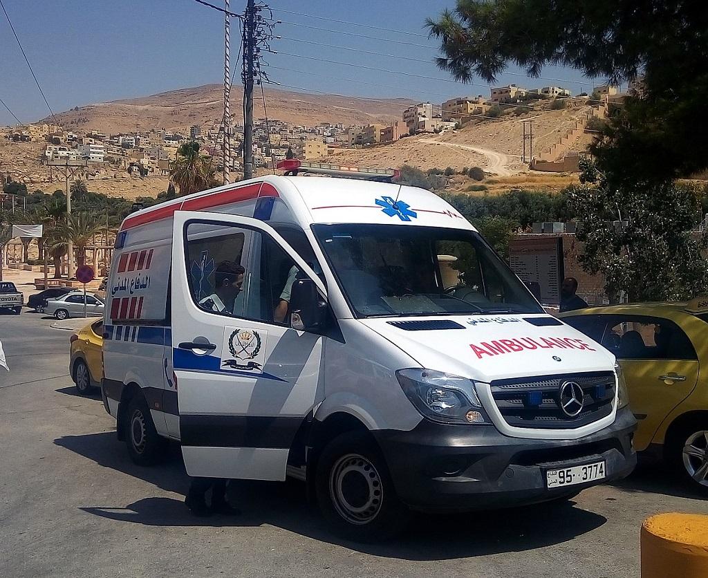 Ambulanza a Petra. Assicurazione sanitaria Giordania